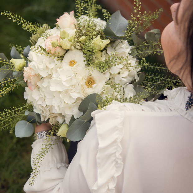 Hand tied bouquet.