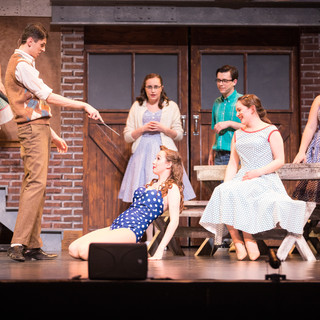 Jocelyn in The Pajama Game at St. Clair College. Photo by Agatha Knelsen.