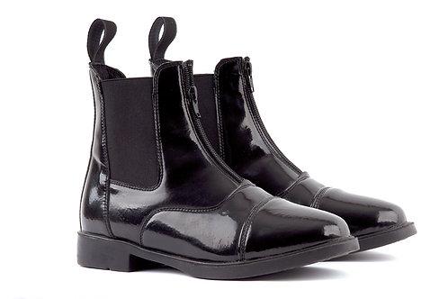 Rhinegold Phoenix Patent Front Zip Boots