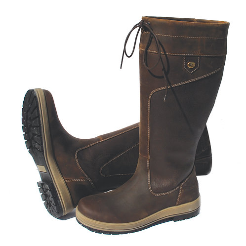 Rhinegold 'Elite' Vermont Leather Country Boots - Wide Calf