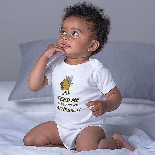 Baby Romper - Feed Me