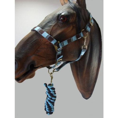 Headcollar & Lead Rope Sets ( two tone square design)