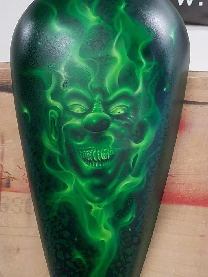 green fire clown
