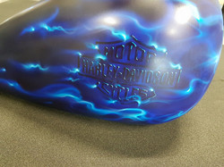 blue fire airbrush
