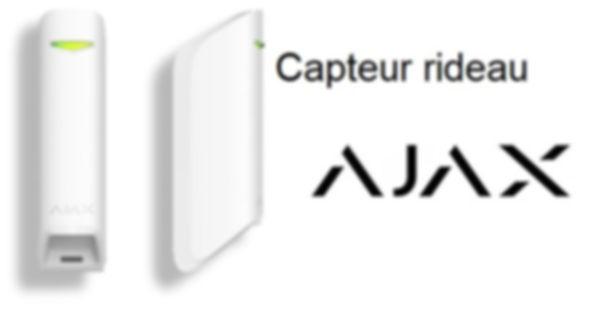 Capteur Rideau ajax alarme sans abonnement avec ou sans télésurveillance alarmediscount