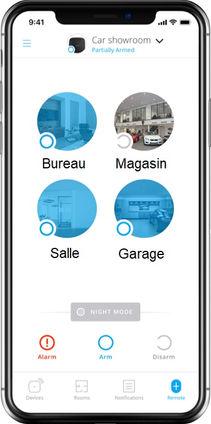 Application Smartphone pour Alarme par alarmediscount.fr
