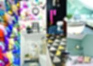 Planche d'inspiration graphique par Sophie Suau de So'Kré Déco, décoratrice UFDI à Clermont, Issoire, et Riom : dynamismement des lignes, des imprimés répétitifs, le jeu d'optique des formes géométriques caractérisent la décoration graphique