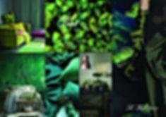 Moodboard décoration ambiance avec du vert réalisé par So'Kré Déco, décoratrice sur Clemont-Ferrand. Cette couleur est apaisante mais aussi tonifiante associé au monde végétal. L'ambiance déco se voudra rassurante et stimulante avec un côté anti-stress