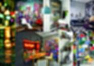 Planche d'inspiration urbaine par Sophie Suau de So'Kré Déco, décoratrice UFDI à Clermont, Issoire, et Riom : une ambiance chaleureuse et accueillante, très contemporaine, ambiance de rue caractérisent la décoration urbaine