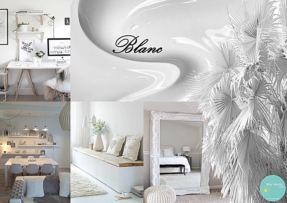 Planche ambiance de décoration en blanc réalisée par Mur'Mures déco, Ysnel Sophie décoratrice d'intérieur en Haute-Garonne, 31. Une ambiance de pureté, de fraîcheur de sérénité se dégage. Cette couleur apportera une touche d'élégance à votre intérieur.blanc.jpg