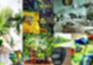 Planche d'inspiration Tropicale par Sophie Suau de So'Kré Déco, décoratrice UFDI à Clermont, Issoire, et Riom : Les espaces sont chaleureux avec une note de fraicheur , la sobriété des matières naturelles, des imprimés luxuriants caractérisent la décoration tropicale