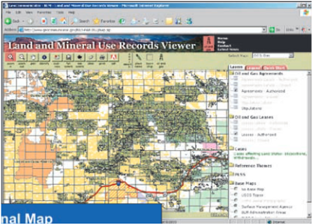 GeoCadastre application to electronic database for local government utilities' land use records