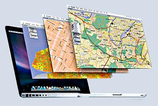 Overlay of Geospatial & GIS information using GeoCadastre software developed by Geodata Australia