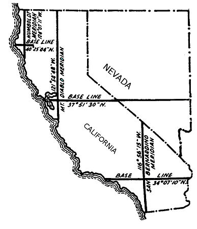 Mount Diablo land survey meridian and base line marked by Colonel Ransom & R. D. Cutts 1852 - Geodata Australia Project