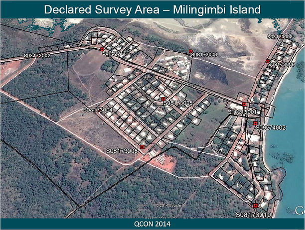 Cadastral Survey Data Model - Map of Milingimbi Island land Title management upgrade - Geodata Australia Project