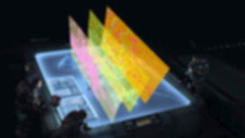 Futuristic cadastral survey KML Project Files as holographs