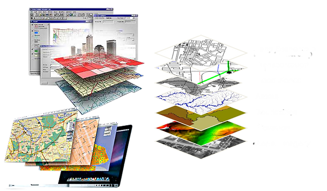 Map overlays using GeoCadastre digital database to create GIS mapping for Local Government Utilities. land surveyors and land administrators of DCDBs