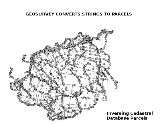 The software, GeorSurvey developed by Geodata Australia, converts survey point strings to a survey-accurate cadastral parcel fabric