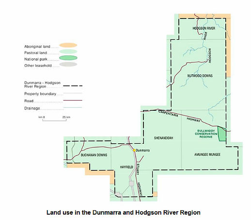 Survey Boundaries of Dunmarra & Hodgson River Region, Norther Territory, Australia