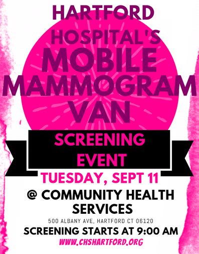 Mobile Mammogram Van at CHS September 11 2018