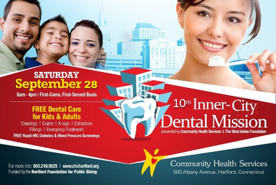 Inner-City Dental Mission-2019                       Come join us on Saturday, September 28th, 2019
