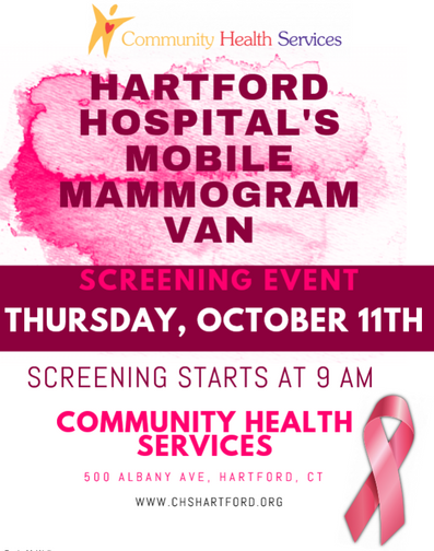 Mobile Mammogram Van at CHS October 11th 2018