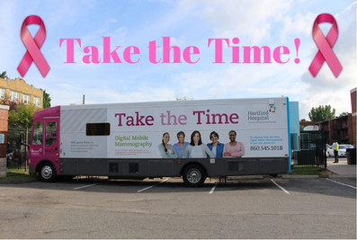 Hartford Hospital's Mobile Mammography Van will be here at CHS today Sept. 4th, 2019  from 9 am-