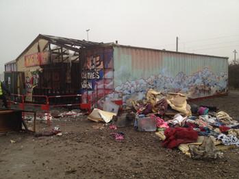 Refugees camp Duinkirk