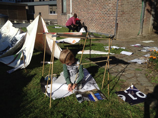 Kinderen bouwen mee aan expo