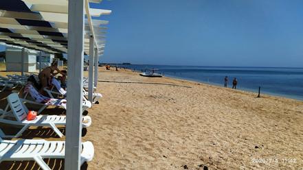 Пляж в 50м