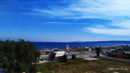 Вид с лоджии на море