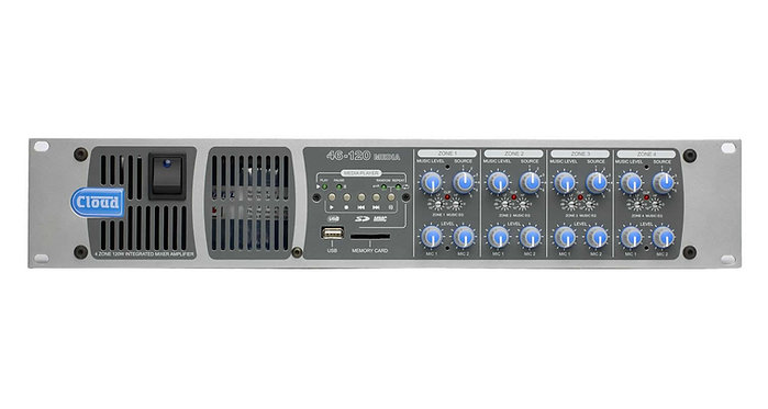 Cloud - 46-120 Media - 4 Zone Integrated Mixer Amplifier