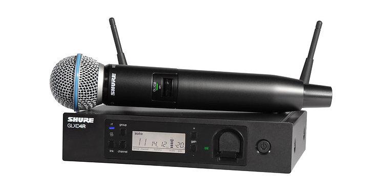 Shure GLXD24R/B58 - BETA 58A Rackmount Wireless System