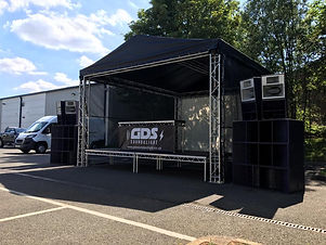 Covered Stage with Trussing