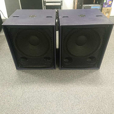 Used Pair Funktion One Bass Reflex BR121 with Covers (Excellent Condition)