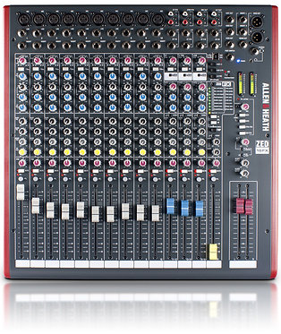 Allen & Heath ZED-16FX Live Mixer Top