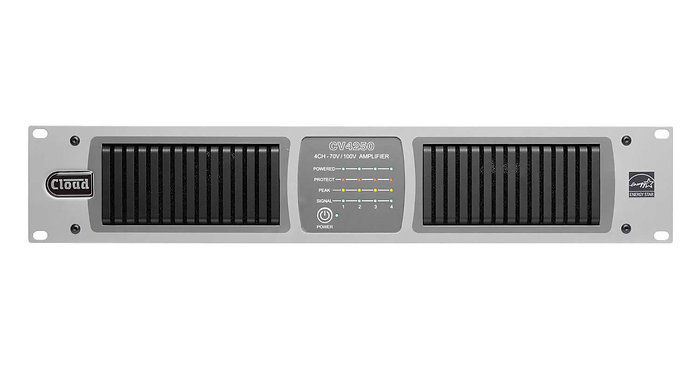 Cloud - CV4250 - 4 Channel 70/100v Digital DSP Amplifier