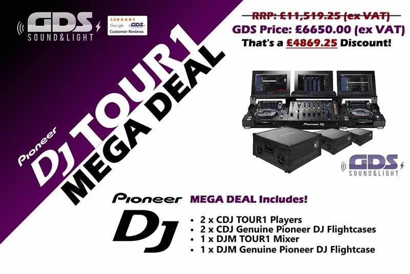 Pioneer DJ TOUR1 Full System & FLIGHTCASE BUNDLE