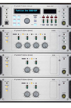 Funktion One D Series Amplifier Close