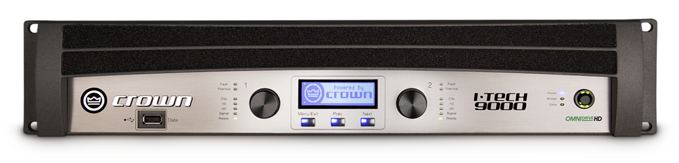 Crown I-Tech 5000HD Two-channel, 2500W @ 4Ω Power Amplifier