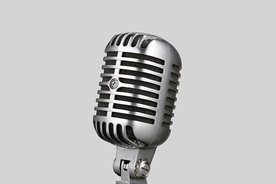 "Shure 55SH Series II Dynamic Microphone - ""the Elvis Microphone"""