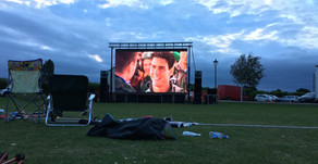 GDS LED screen used for outdoor cinema experience