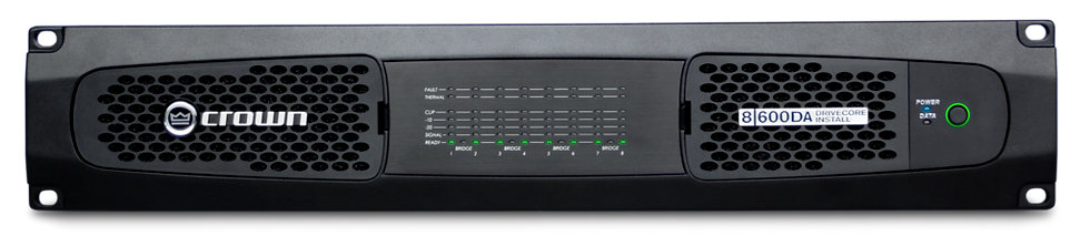 Crown Audio - DCi 8|600DA 8 Ch, 600W @ 4Ω Power Amplifier with Dante™