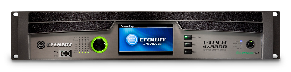 Crown I-Tech 4x3500HD (Speakon) Four-channel, 4000W @ 4Ω Power Amplifier