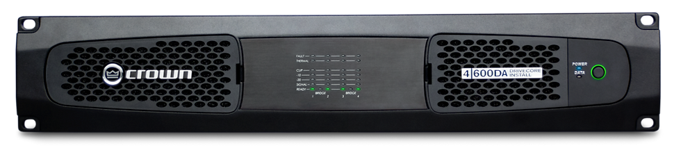 Crown Audio -DCi 4 | 600DA 4-channel, 600W @ 4Ω Power Amplifier with Dante™