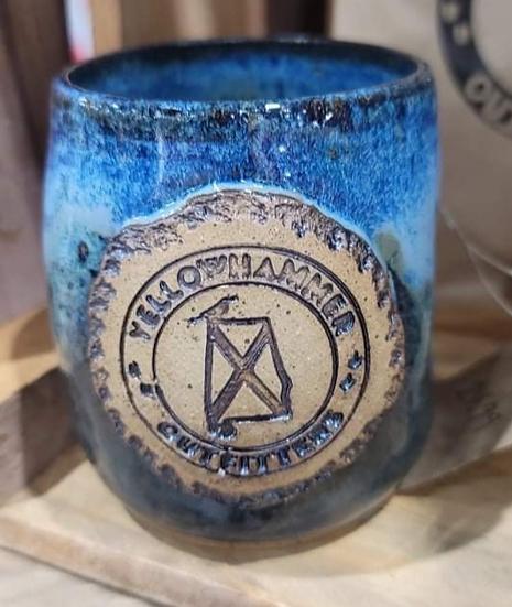 Whiskey Tumbler (Blue Glaze)