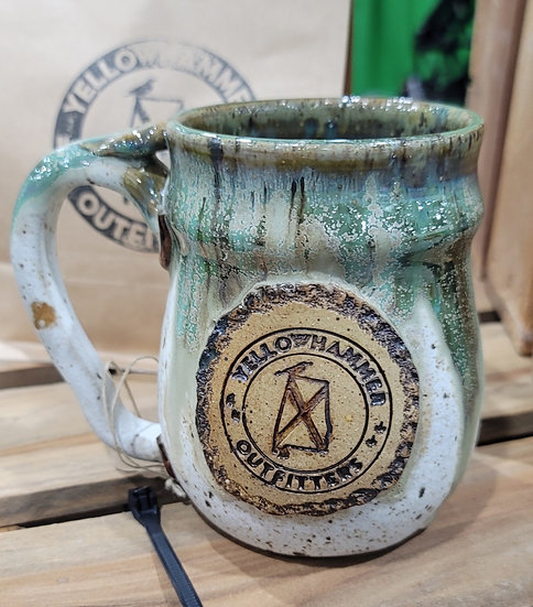 Coffee Mug (Green & White Glaze)