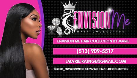 envision me hair collection biz card 2 c