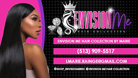 envision me hair collection biz card 2 c