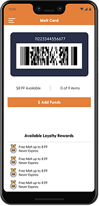 The Melt app, Melt bar code screen